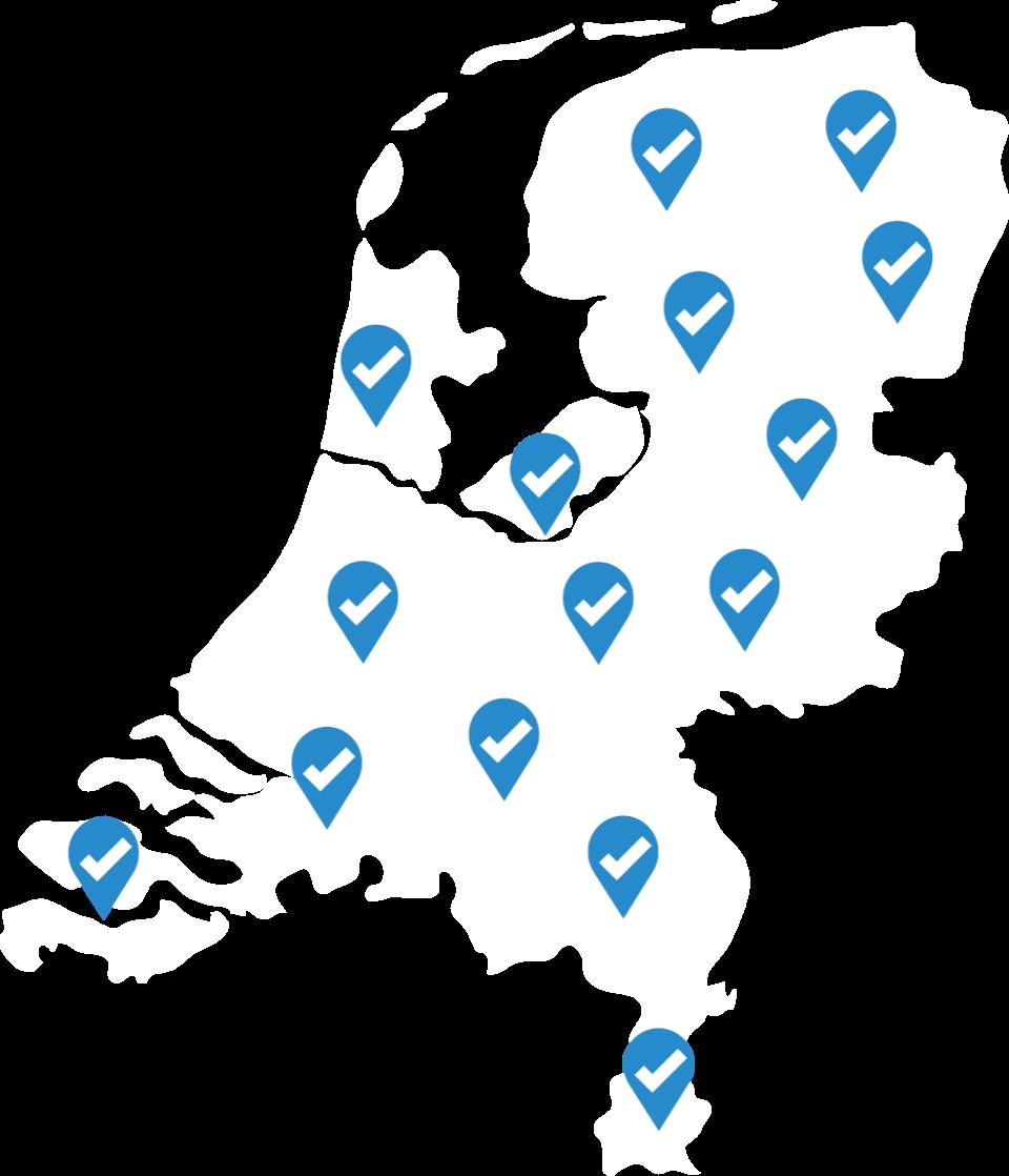 landkaart vkg keurmerkleveranciers